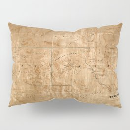 Map Of Arizona 1860 Pillow Sham
