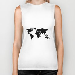 World Outline Biker Tank