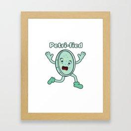Petri Dish Petrified Freezes Pun Funny Framed Art Print