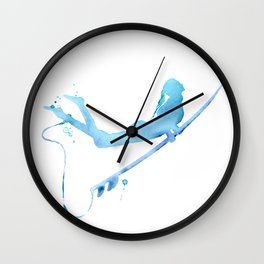 Duck Diving - Surf Art of Surfer Girl Wall Clock