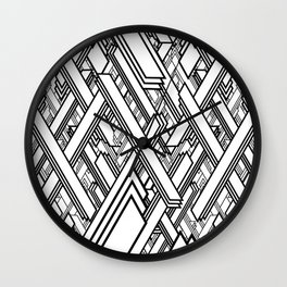 Layered Lines Wall Clock