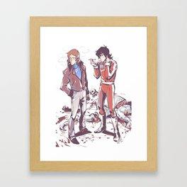 80's klance_sketchy_messy Framed Art Print
