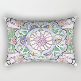 Mandala Floribunda Rectangular Pillow