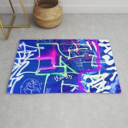 Blue Mood with Pink Language Rug