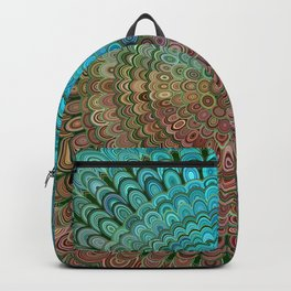 Cold Metal Flower Mandala Backpack