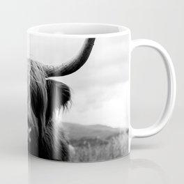 Scottish Highland Cattle Black and White Animal Kaffeebecher