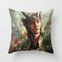 prince Throw Pillows featuring The Prince of Asgard by Alice X. Zhang