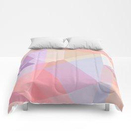 Powder Geometry - bright Comforters