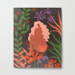 Girl in Botanic Garden Metal Print