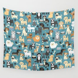 Cute Puppies Little Dogs Wall Tapestry