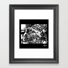 Burning Monk Framed Art Print