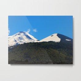 The Yin-Yang Mountain Metal Print