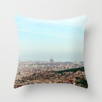 barcelona Throw Pillows featuring Barcelona by Julius Marc