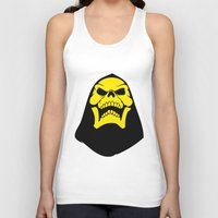 skeletor Tank Tops featuring Skeletor. by Glassy