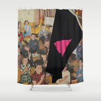 queer Shower Curtains featuring Queer Nation (…Under God) by BRENT PRUITT
