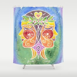 Zodiac Collection: Gemini Shower Curtain