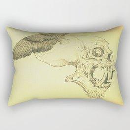 Winged Skull Rectangular Pillow