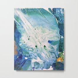 Ocean White Metal Print