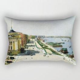 Saint Petersburg Russia Neva river and Admiralty Rectangular Pillow