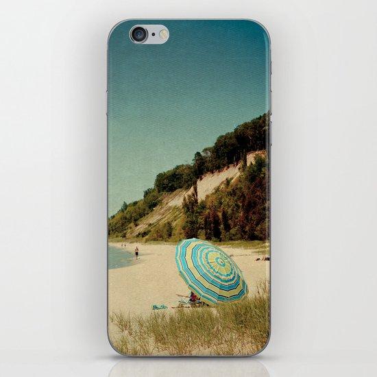 Blue Beach Umbrella iPhone & iPod Skin