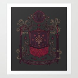 Born in Blood Art Print