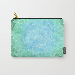 Abstract Sea Glass Carry-All Pouch
