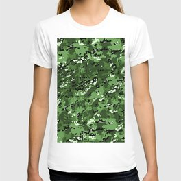 Green Popular Multi Camo Pattern T-shirt