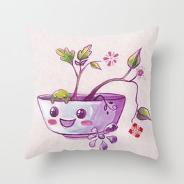 Sweet Garden Throw Pillow
