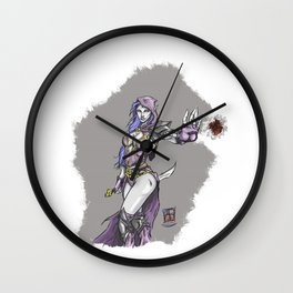 Dark sorceress by AngeloPeluso Wall Clock