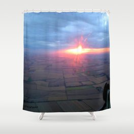 Flying at Sunset (Full Sutton) Shower Curtain