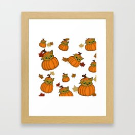 Fall Has come To Play Framed Art Print