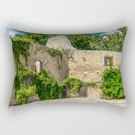 Old Castle Wall Ruin Rectangular Pillow