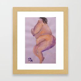 BBW sleeping Framed Art Print