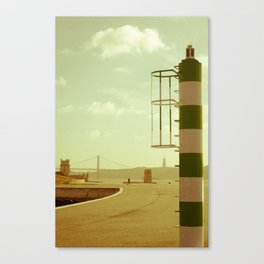 Lisbon perspective lighthouse Canvas Print