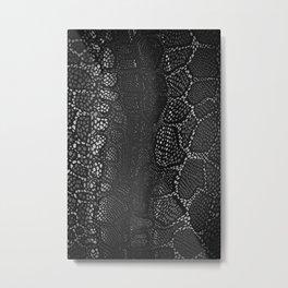Black Snake Skin Metal Print