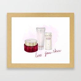 Skin Care Framed Art Print