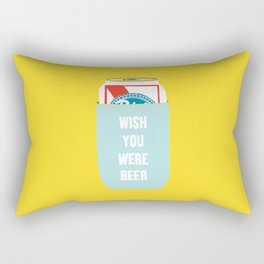Wish You Were Beer Rectangular Pillow