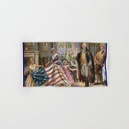 Edward percy moran: the birth of old glory Or Betsy Ross and Washington Hand & Bath Towel