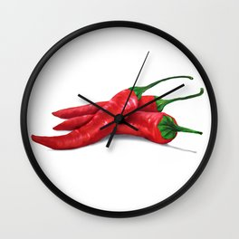 Chile de Arbol (Tree Chili) Wall Clock