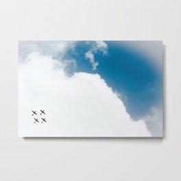 Aerial Show Metal Print