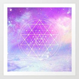 Sacred Geometry (Sri Yantra) Art Print