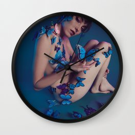 Butterfly Fly Free Wall Clock