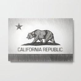 California Republic state flag Metal Print