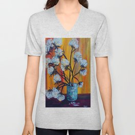 Bouquet of Cotton Unisex V-Neck