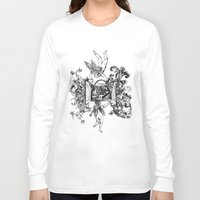 angels Long Sleeve T-shirts featuring Angels by LinnaDesign