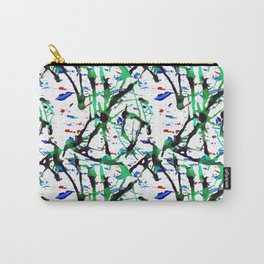 Ink Splatter - White Carry-All Pouch