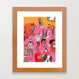 Christmas Party Framed Art Print