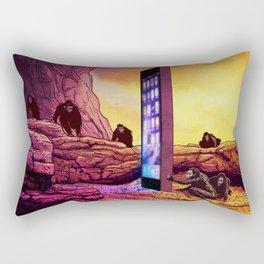 Ape Men meet iPhone Monolith - 2001 A Space Odyssey iCONSUME Rectangular Pillow