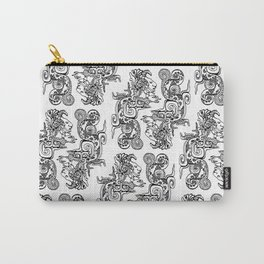 Maya Serpent Pattern Carry-All Pouch