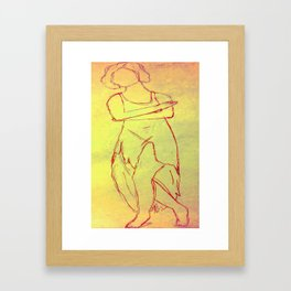 She Just Wants To Dance Framed Art Print